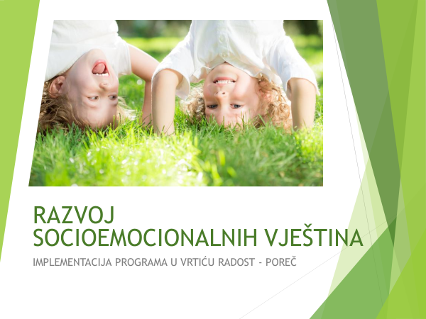 Za predškolarce Poreča - Razvoj socioemocionalnih vještina