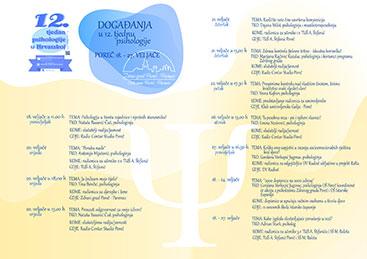12. Tjedan psihologije - program